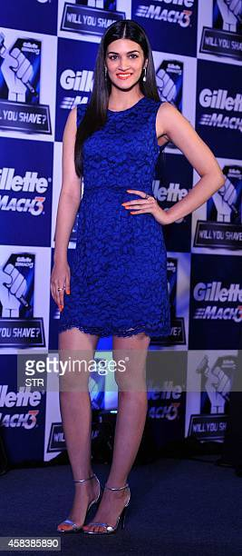 Indian Bollywood film actress Kirti Sanon participates in a promotional event for Gillette Camping in Mumbai on November 4 2014 AFP PHOTO