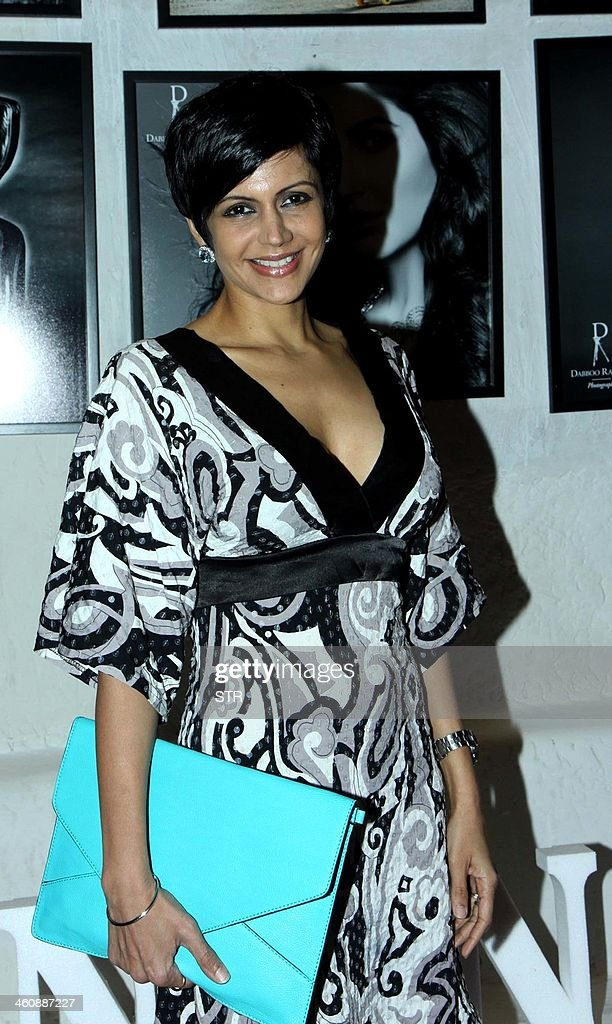 Indian Bollywood film actress Mandira Bedi attends the launch of 'Calendar 2014' in Mumbai on January 5, 2014.