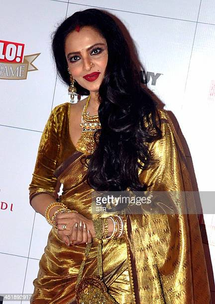 Indian Bollywood film actress Rekha attends the 'Hello Hall of Fame Awards 2013' ceremony in Mumbai on November 24 2013 AFP PHOTO