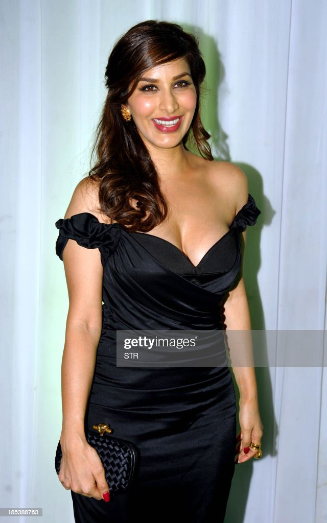 Indian Bollywood film actress Sophie Chaudhary attends the 'Society Young Achiever Awards' 2013 in Mumbai on October 19, 2013.