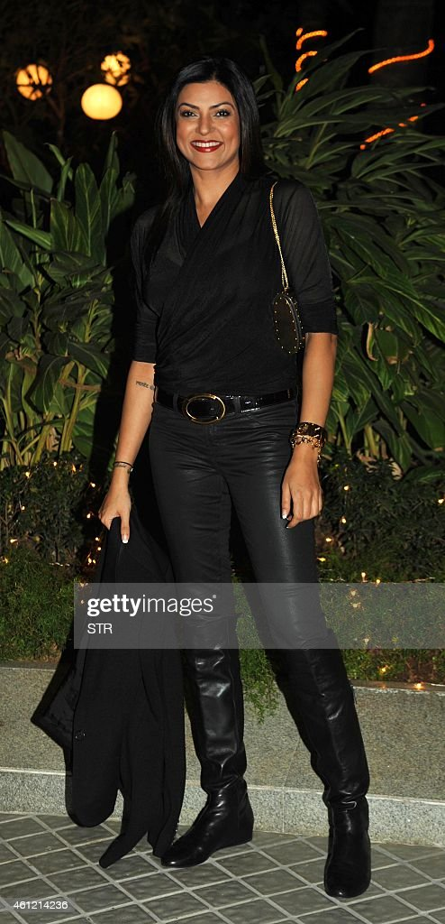 Indian Bollywood film actress Sushmita Sen attends the 50th birthday party of Bollywood film director choreographer producer and actress Farah Khan...