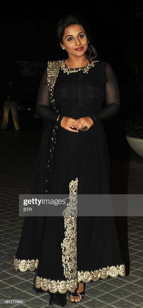 Indian Bollywood film actress <a gi-track='captionPersonalityLinkClicked' href=/galleries/search?phrase=Vidya+Balan&family=editorial&specificpeople=563348 ng-click='$event.stopPropagation()'>Vidya Balan</a> attend the 50th birthday party of Bollywood film director, choreographer, producer and actress Farah Khan at her residence in Mumbai on January 8, 2015.