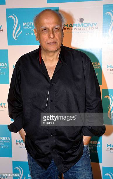Indian Bollywood film director Mahesh Bhatt poses as he attends the Harmony foundations Mother Teresa Memorial International Awards ceremony in...