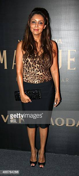 Indian Bollywood film producer Gauri Khan attends the launch of Vero Moda's Marquee collection designed by Indian filmmaker Karan Johar in Mumbai on...