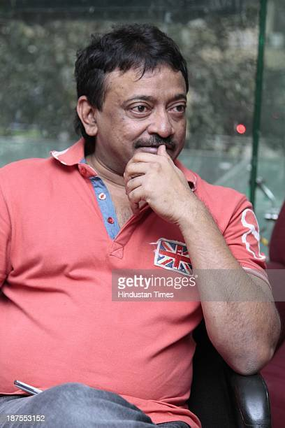 Indian Bollywood filmmaker Ram Gopal Varma during an exclusive interview for the promotion of upcoming movie Satya 2 at HT Media Office on November 6...