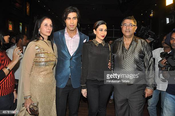 Indian Bollywood filmmakers Suneel Darshan and Dharmesh Darshan along with actors Karisma Kapoor Shiv Darshan and Hasleen Kaur during an event hosted...