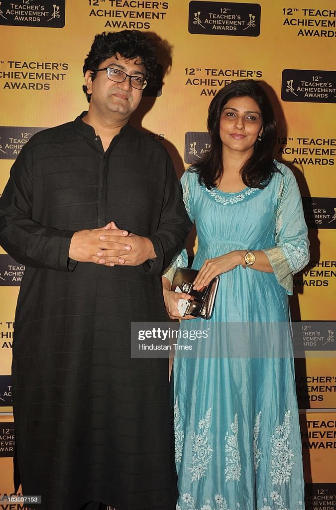 Indian bollywood lyricist and screenwriter Prasoon Joshi during the 12th Teachers Achievement Awards 2013 at the Hotel Taj Lands End, Bandra on March 9, 2013 in Mumbai, India.