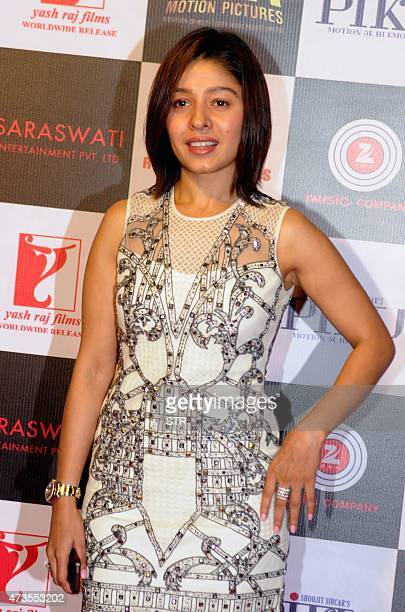 Indian Bollywood play back singer Sunidhi Chauhan attends a party for Hindi film Piku in Mumbai late on May 15 2015 AFP PHOTO