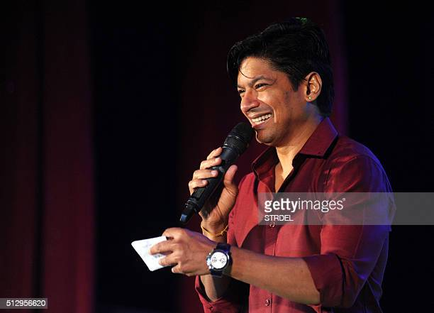 Indian Bollywood playback singer Shaan Mukherjee performs during the 'Ravindra Jain Academy Awards' ceremony in Mumbai on late February 28 2016 AFP...