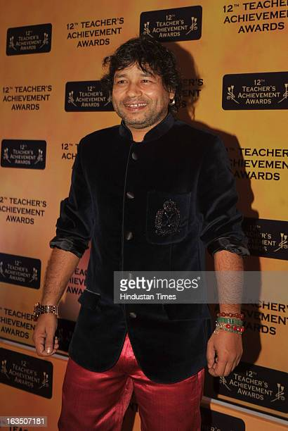 Indian bollywood poprock singer Kailash Kher during the 12th Teachers Achievement Awards 2013 at the Hotel Taj Lands End Bandra on March 9 2013 in...