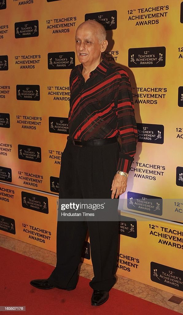Indian bollywood producer Mukesh Bhatt during the 12th Teachers Achievement Awards 2013 at the Hotel Taj Lands End, Bandra on March 9, 2013 in Mumbai,India.