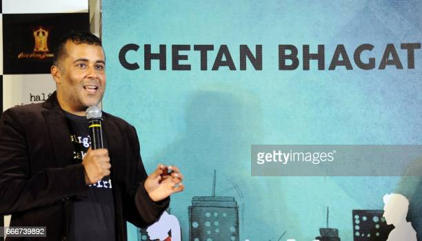 Indian Bollywood screenwriter Chetan Bhagat attends the trailer launch of the Hindi film 'Half Girlfriend' in Mumbai on April 10 2017 PHOTO /