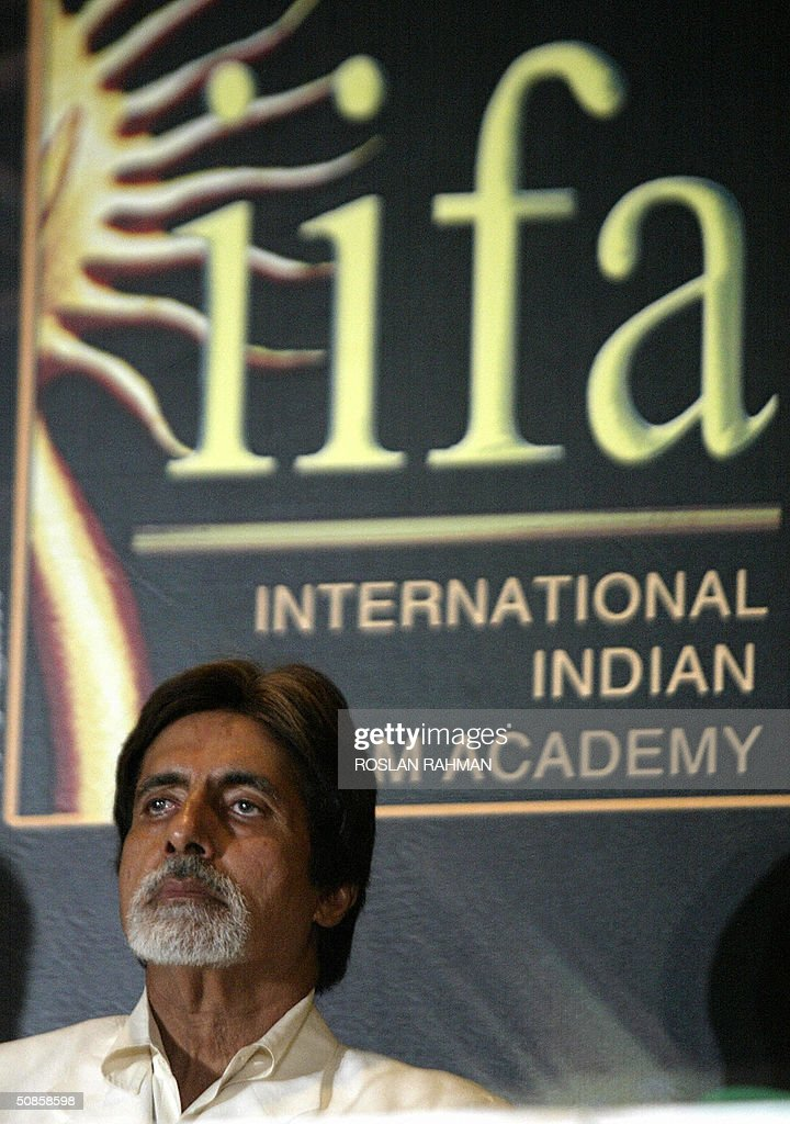 Indian Bollywood star Amitabh Bachchan at the press conference to mark the 5th International Indian Film Academy (IIFA) Award, in Singapore 20 May 2004.