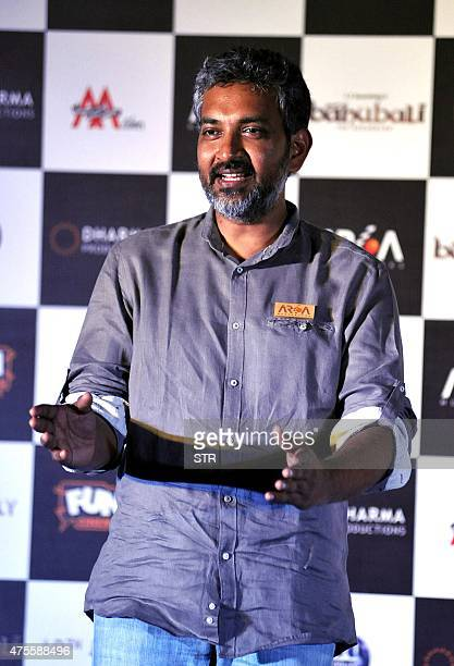 Indian Bollywood writer and director S S Rajamouli attends the trailer launch of upcoming film 'Baahubali' in Mumbai late on June 1 2015 AFP PHOTO