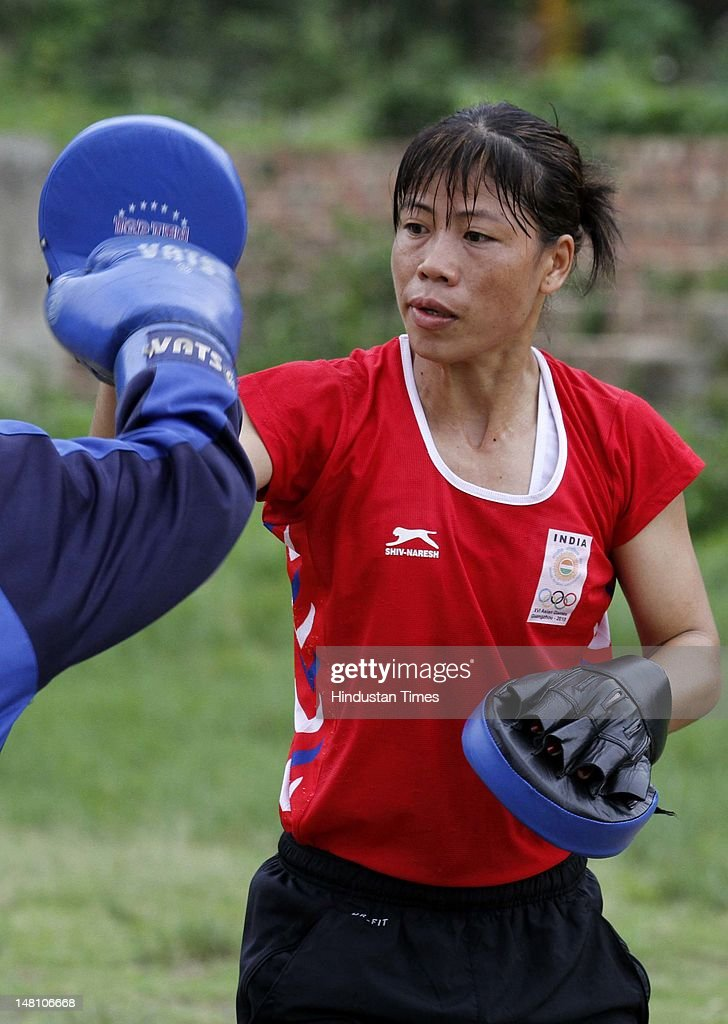 Indian Boxer Mary Kom Portraits