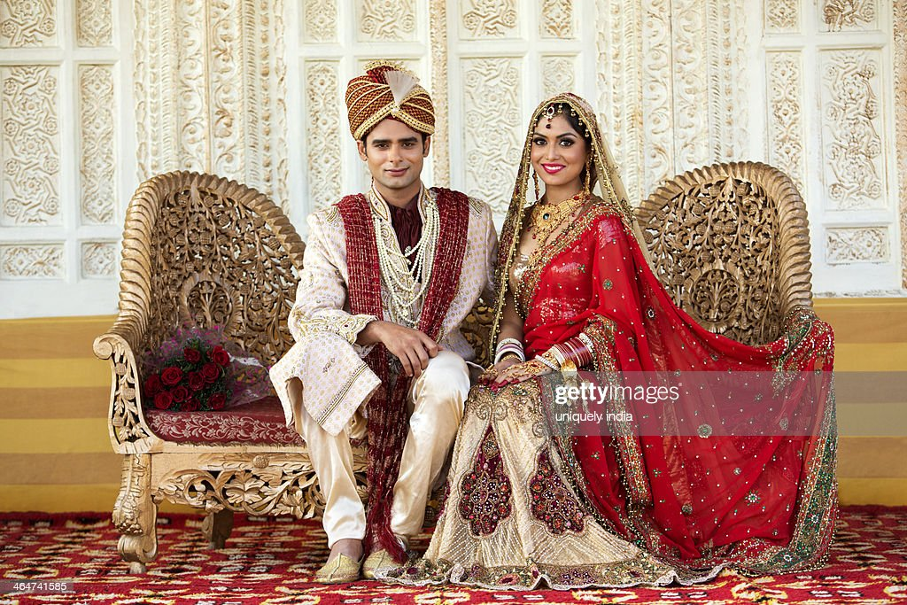 Wedding couple dress in india