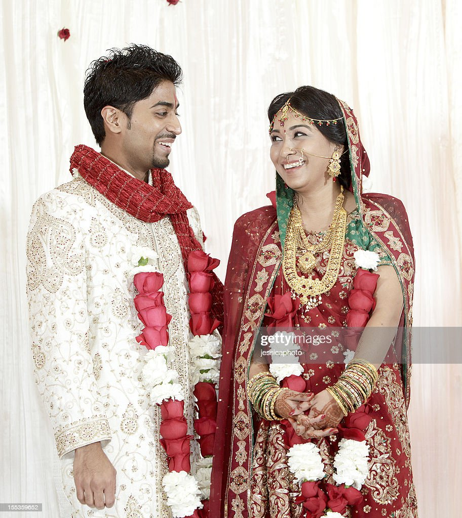 indian bride and groom stock photo getty images