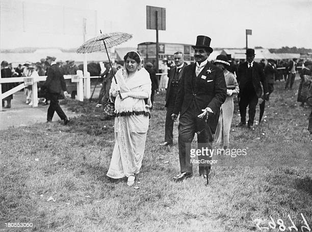 Indian businessman and philanthropist Sir Dhunjibhoy Bomanji and Lady Bomanji attend second day of the races at Royal Ascot Berkshire England 18th...