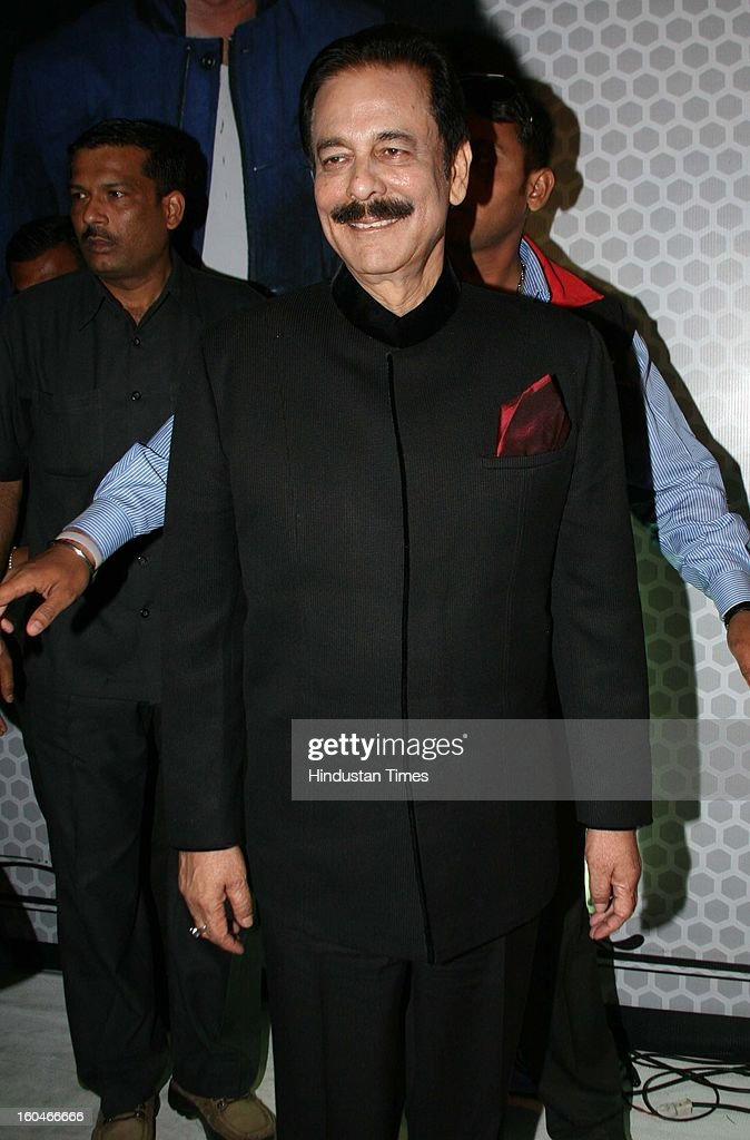 Indian businessman Subroto Roy attending Global Sound of Peace Concert and Album Launch at Andhery Sports Complex on January 30, 2013 Mumbai, India.