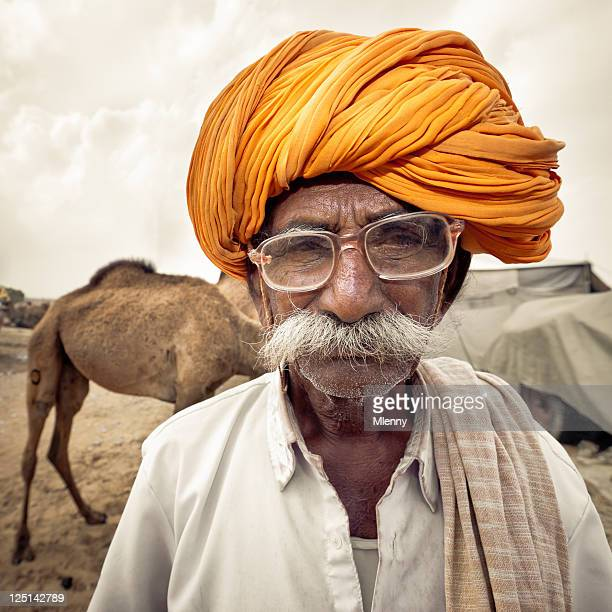 Indian Camel Merchant India Real People Portrait Series