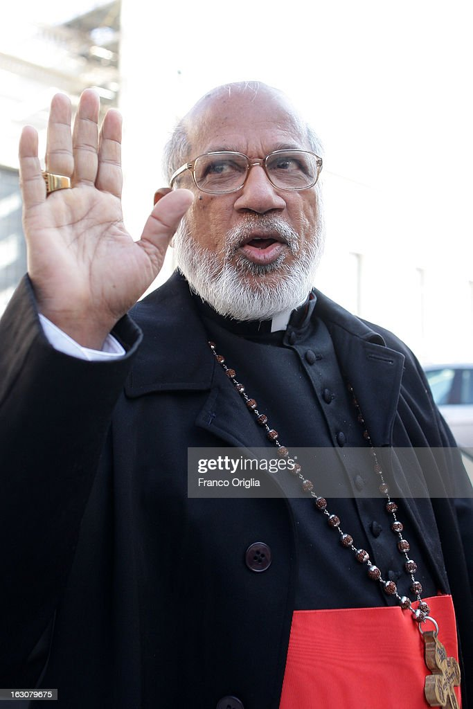 Indian cardinal George Alencherry arrives at the Paul VI hall for the opening of the Cardinals' Congregations on March 4, 2013 in Vatican City, Vatican. The congregations of cardinals will continue until all cardinal electors have arrived in Rome, whereupon the College will decide on the start-date of the Conclave to elect a new Pope.