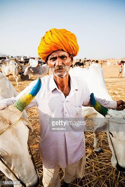Indian Cattle Merchant Pushkar Fair