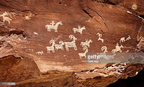 Indian Cave Painting Petroglyph