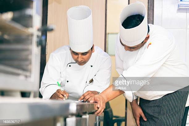 indian chefs planning the menu