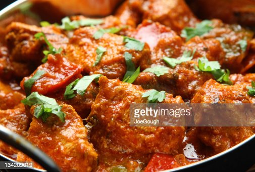 Indian Chicken and Jalfrezi curry : Stock Photo