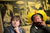 Indian Chief Raoni Metuktire of the Kayapo tribe in the Amazon is on tour in Europe to campaign against the construction of the Belo Monte Dam and...