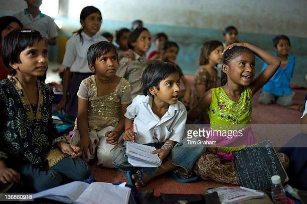 Indian children at Rajyakaiya School in Narlai village Rajasthan Northern India
