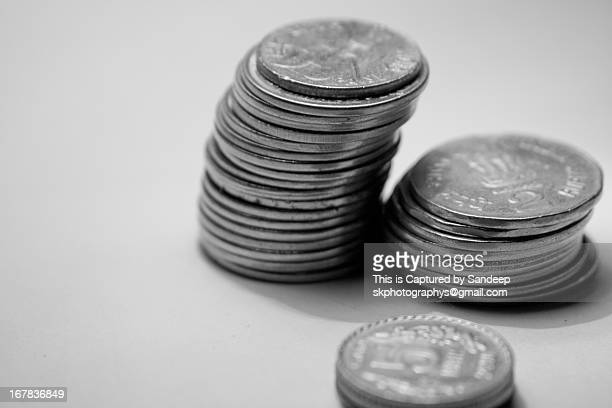 Indian coin stack