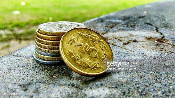Indian Coins On Wall