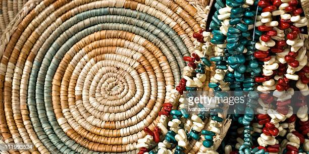Indian Corn Beads and Basket