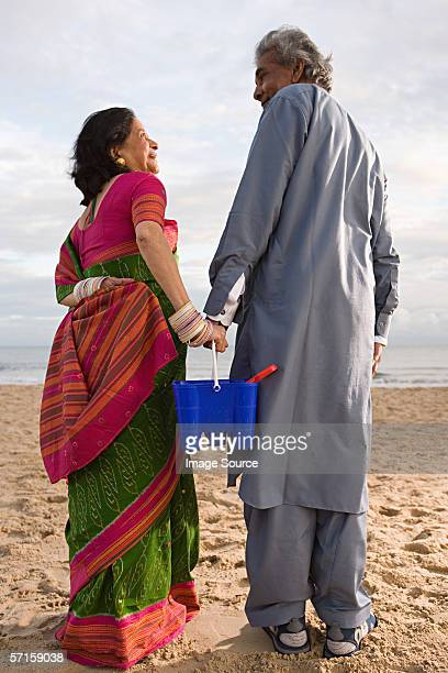 Indian couple at the beach