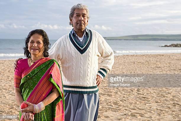 Indian couple on the beach