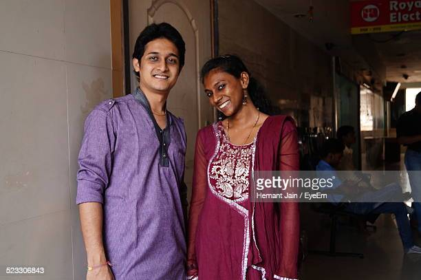 Indian Couple Standing Together