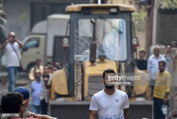 Indian cricket captain Virat Kohli during a commercial shoot at Shivaji Park on February 4 2017 in Mumbai India