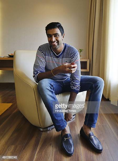Indian Cricket player Ravichandran Ashwin during an interview with Hindustan Times on September 12 2015 in Chennai India