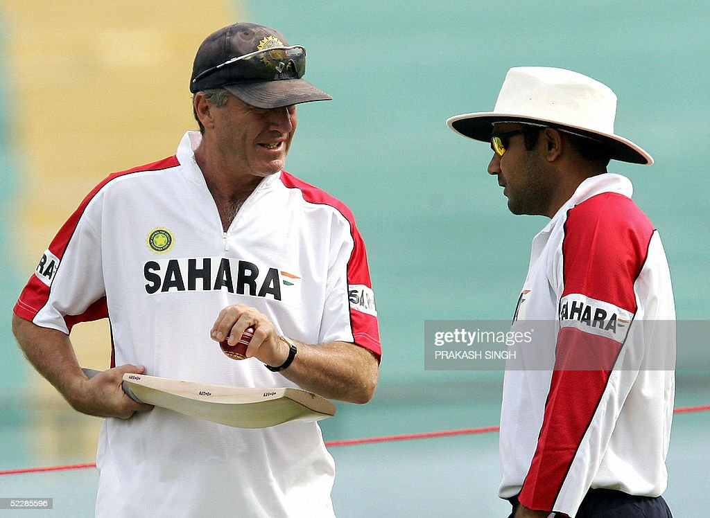 Image result for John Wright Grabbed the collar of Sehwag