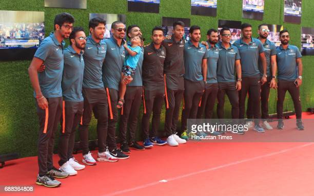 Indian cricket team during the screening of 'Sachin A Billion Dreams' film at PVR on May 24 2017 in Mumbai India British director James Erskine has...