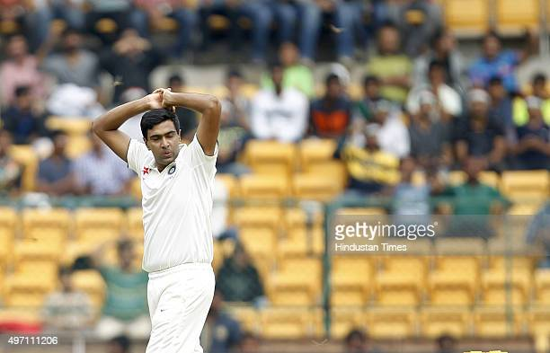 Indian cricket team player Ravichandran Ashwin during the 2nd Test match between India and South Africa at M Chinnaswamy Stadium on November 14 2015...