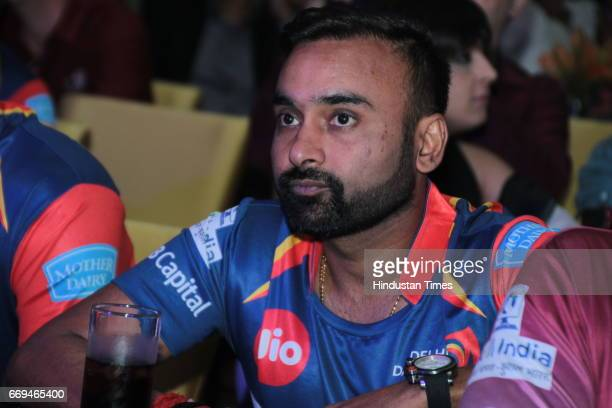 Indian Cricketer Amit Mishra at a party hosted by Daikin to celebrate the three years of togetherness with Delhi Daredevils team at Hotel Pullman...