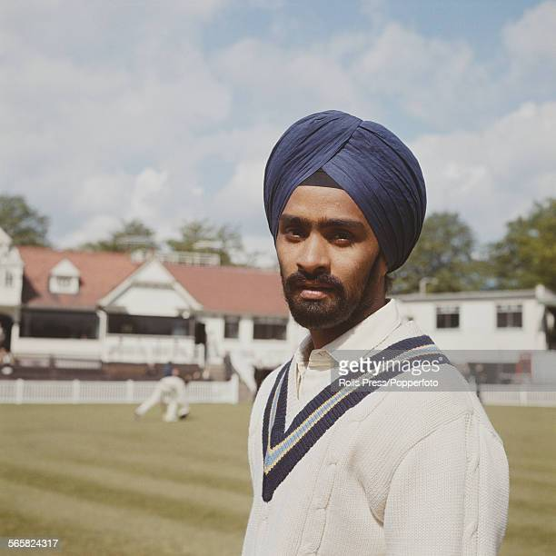 Indian cricketer and member of the Indian national cricket team Bishan Singh Bedi pictured at Worcestershire County Cricket Club ground at New Road...