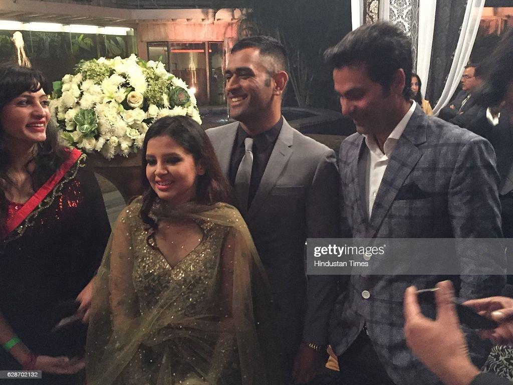 Wedding Reception Of Indian Cricketer Yuvraj Singh And Bollywood Actor Hazel Keech : News Photo