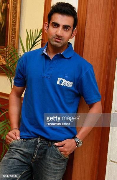 Indian cricketer Gautam Gambhir during an exclusive interview with HT City/Hindustan Times at Hotel Royal Plaza on April 8 2014 in New Delhi India