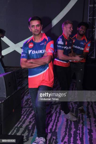 Indian Cricketer Rahul Dravid at a party hosted by Daikin to celebrate the three years of togetherness with Delhi Daredevils team at Hotel Pullman...
