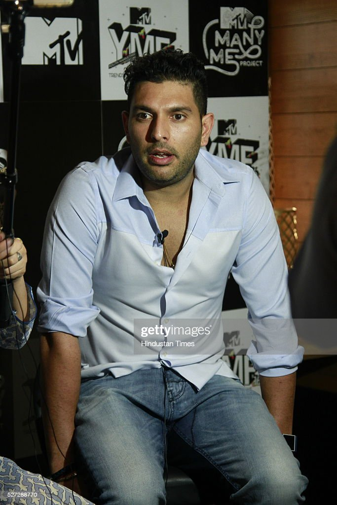 Indian cricketer Yuvraj Singh posing for photographs during an interview at The Kila, Mehrauli on April 29 in New Delhi, India.