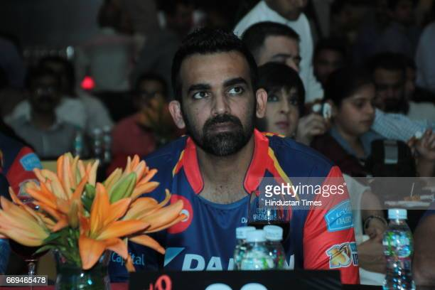 Indian Cricketer Zaheer Khan at a party hosted by Daikin to celebrate the three years of togetherness with Delhi Daredevils team at Hotel Pullman...