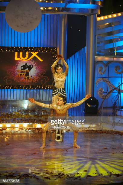 Indian Dancer and Actress Aditi Bhagwat Aditi Bhagwat on the set of her televised dance show on April 17 2010 in Mumbai India